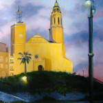 St. Bartolome Church, Spain, 36x24, $1,200