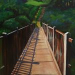 Footbridge to the Lea 18x24 $695
