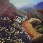 Hiking Trail, oil, SOLD