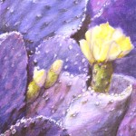 Purple Cacti, SOLD