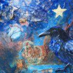 Raven Dreams 12x9 mixed media $250