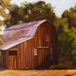 Historic Redwood Barn, Ojai 18x24 $695