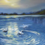 Swans and Shadows 20x16 SOLD