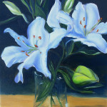 White Lilies, 9x12, oil on canvas, $275