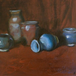 Green Pots, 9x12, oil/canvas, $325