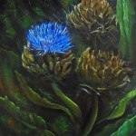 Ojai Artichokes, oil, SOLD