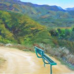 Take A Load Off, resting spot on Shelf Road, 10x8, oil, $275