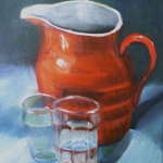Red Pitcher 8x10 oil/canvas $200